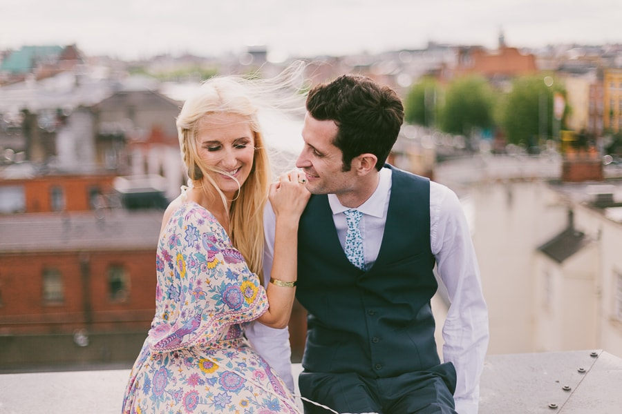 Rooftop bride and groom photo